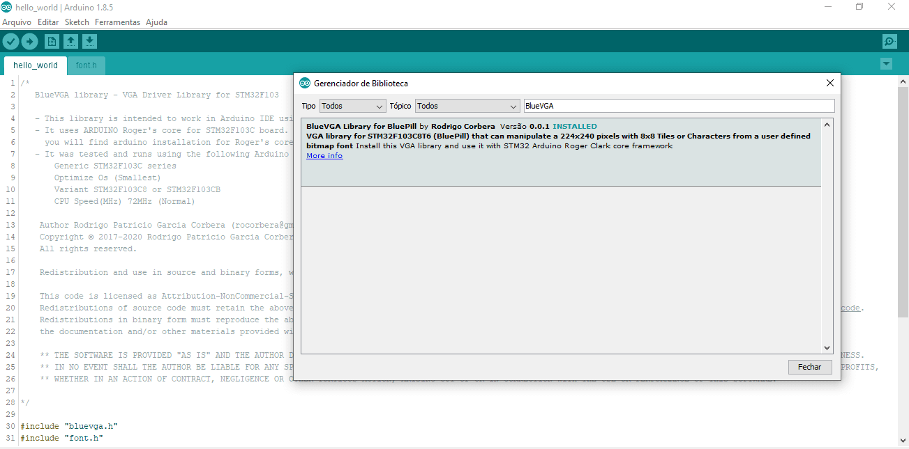 BlueVGA Library officially listed in Arduino IDE-min.png